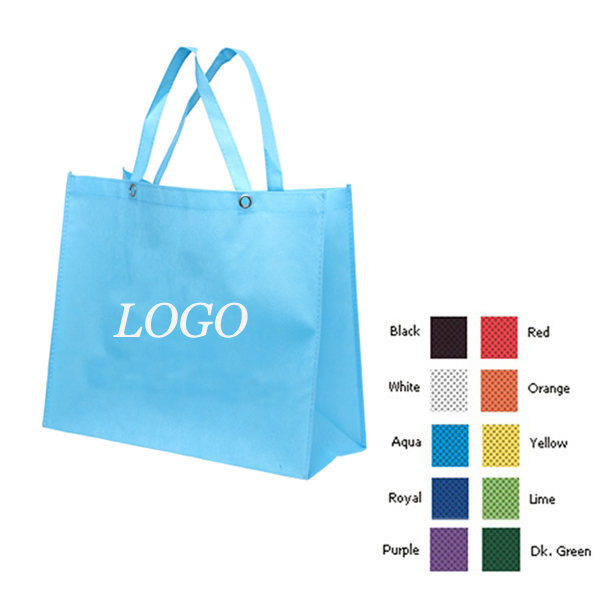 Non-Woven Tote Bag With Reinforced Metal Grommets Handle